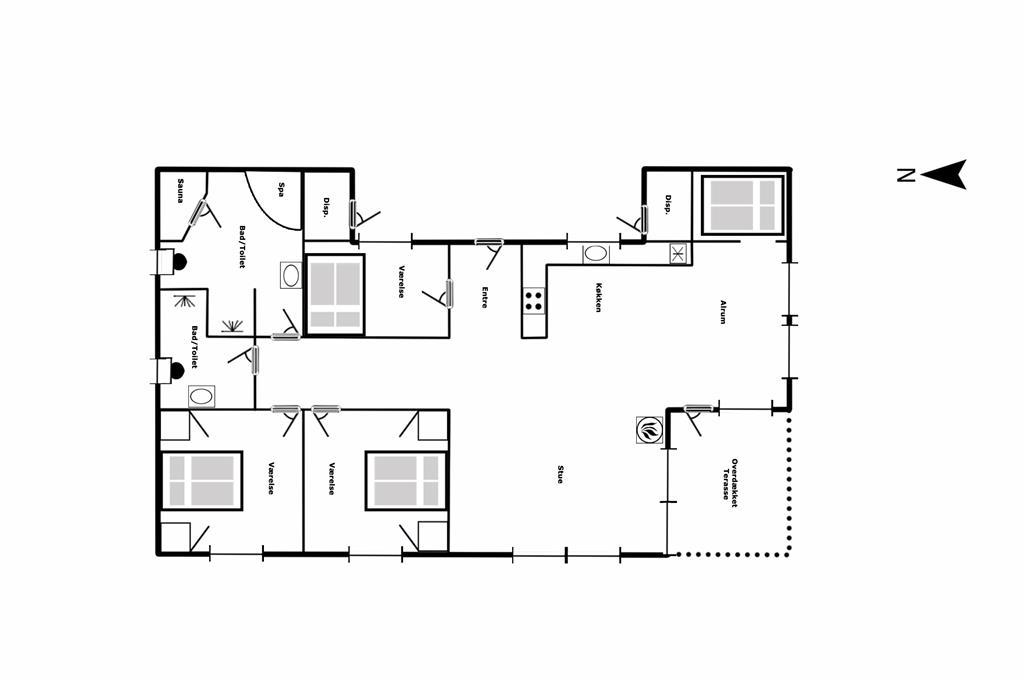 Interieur 1-125 Vakantiehuis 2120, Gyvelvej 20, DK - 6854 Henne