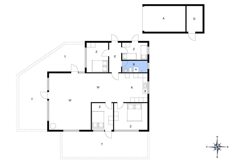 Indretning 1-148 Sommerhus TV1125, Grøndalsvej 16, DK - 9881 Bindslev