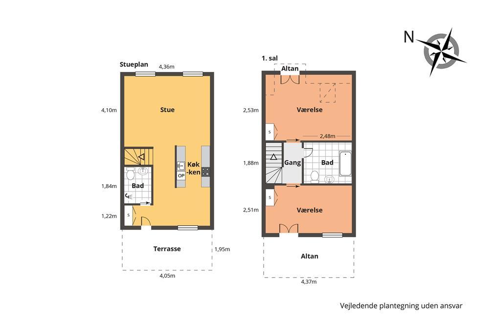 Indretning 1-148 Sommerhus TV1355, Tannisbugtvej 49, DK - 9881 Bindslev