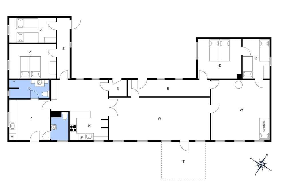 Interieur 1-15 Vakantiehuis 4308, Engblommen 2, DK - 4780 Stege