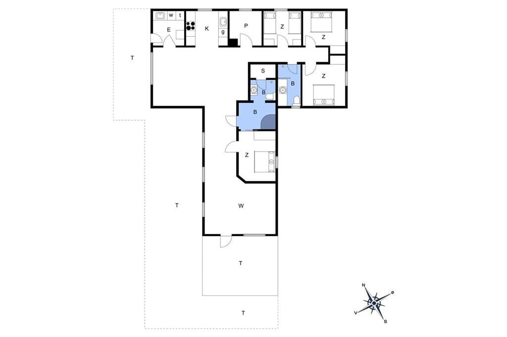 Indretning 1-20 Sommerhus 223, Amazonevej 9, DK - 7673 Harboøre