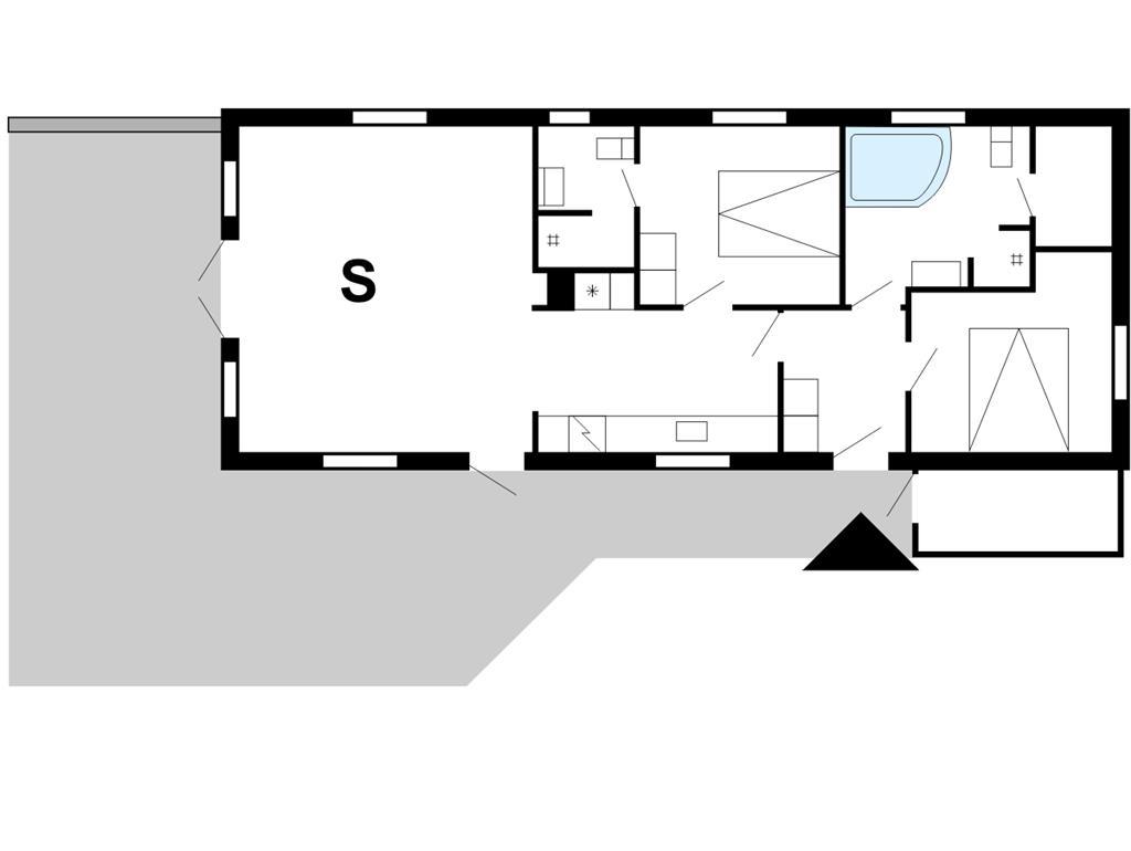 Indretning 1-175 Sommerhus 10741, Kornbjergvej 5, DK - 6990 Ulfborg