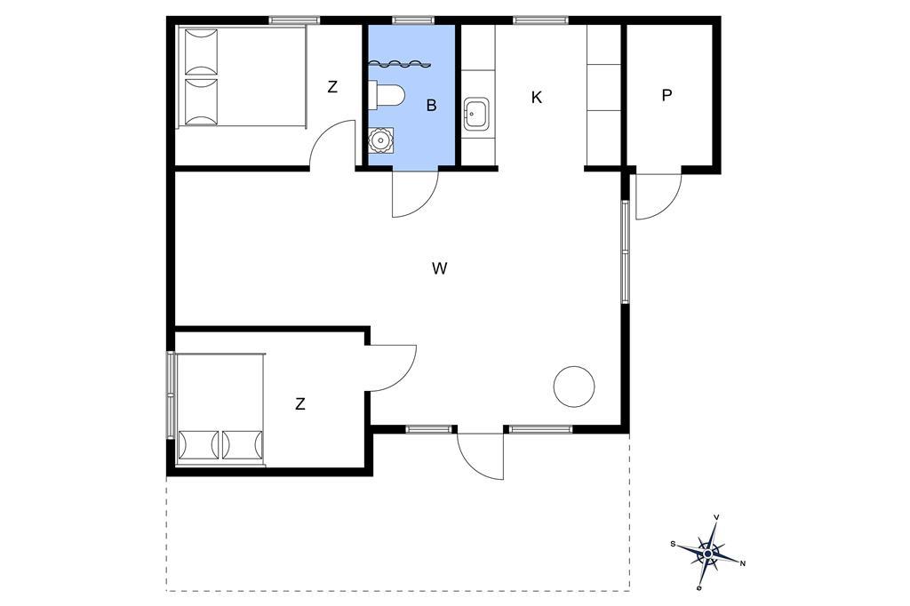 Innenausstattung 1-13 Ferienhaus 973, Skægshøj 5, DK - 7700 Thisted