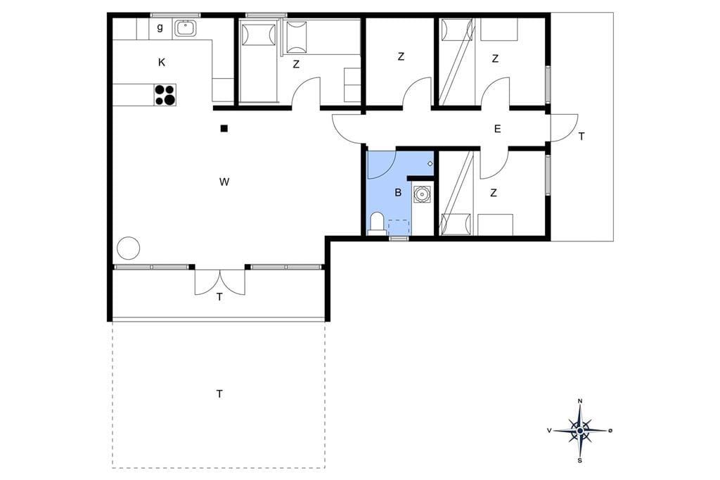 Interieur 1-14 Vakantiehuis 107, Lyngbygårdsvej 5, DK - 9480 Løkken