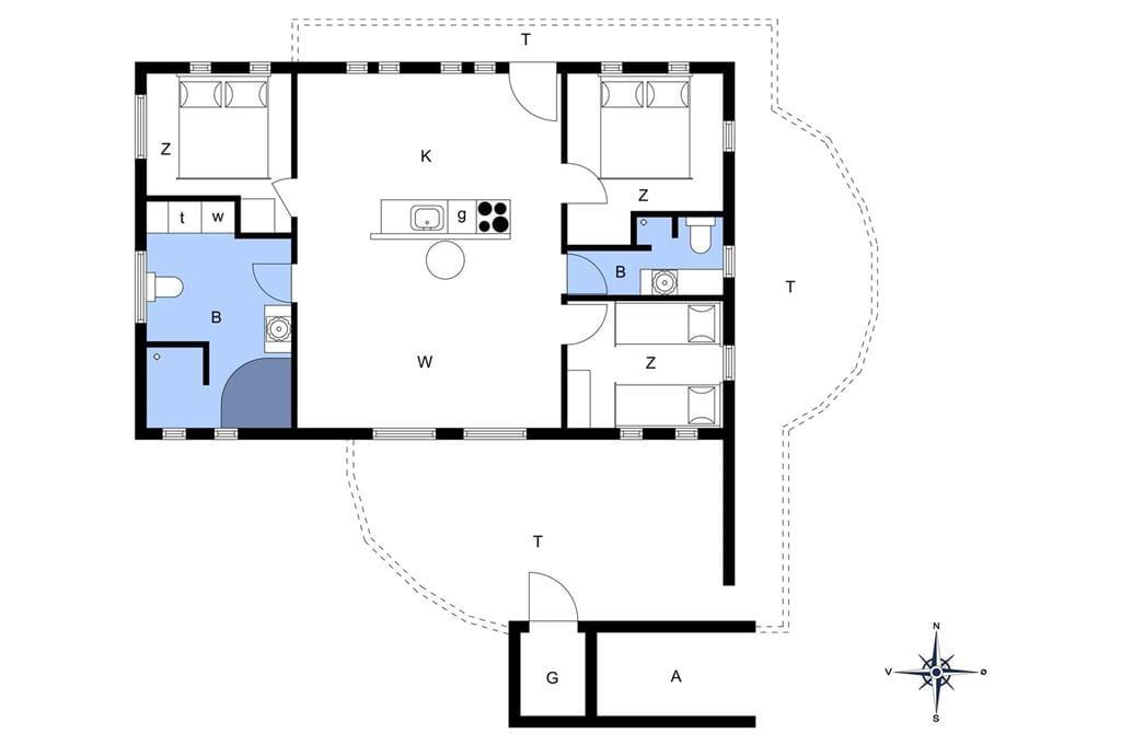 Indretning 1-13 Sommerhus 890, Niels Juels Vej 41, DK - 7752 Snedsted