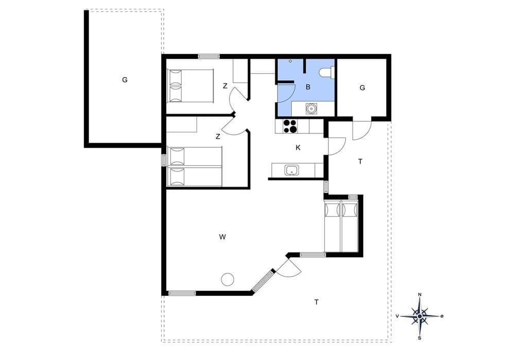Indretning 1-13 Sommerhus 211, Rylevej 1, DK - 7770 Vestervig