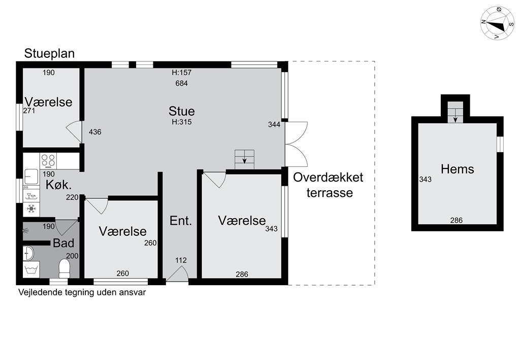 Indretning 1-15 Sommerhus 3031, Kalven 9, DK - 4780 Stege
