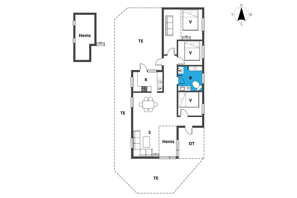 Interieur 1-23 Vakantiehuis 8518, Ellevej 24, DK - 8500 Grenaa