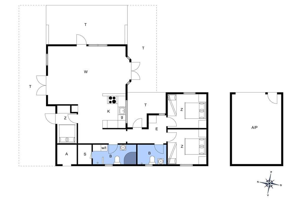 Innenausstattung 1-14 Ferienhaus 239, Klitgaardsvej 21, DK - 9492 Blokhus