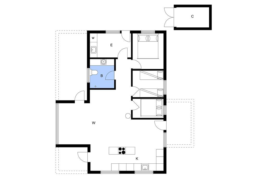 Indretning 1-3 Sommerhus L12163, Rylevej 5, DK - 7860 Spøttrup