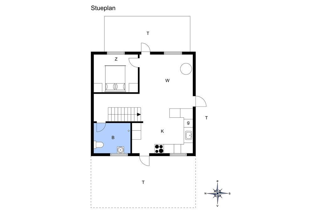 Indretning 1-3 Sommerhus M66223, Stubmarken 11, DK - 5874 Hesselager