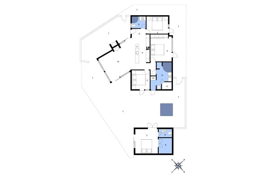 Indretning 1-176 Sommerhus BL234, Sdr. Strandvej 9, DK - 9492 Blokhus