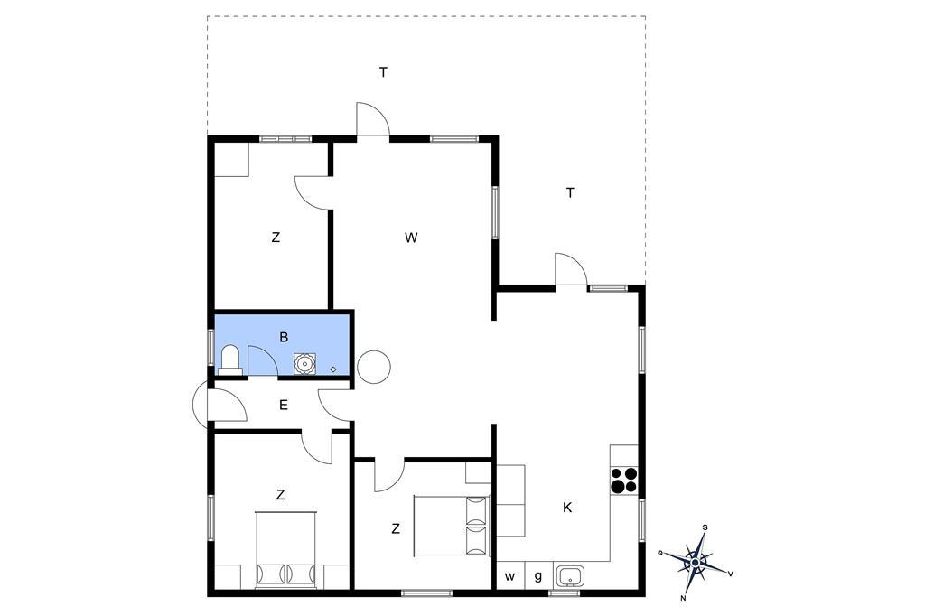 Indretning 1-174 Sommerhus M15005, Perikumvej 4, DK - 4873 Væggerløse