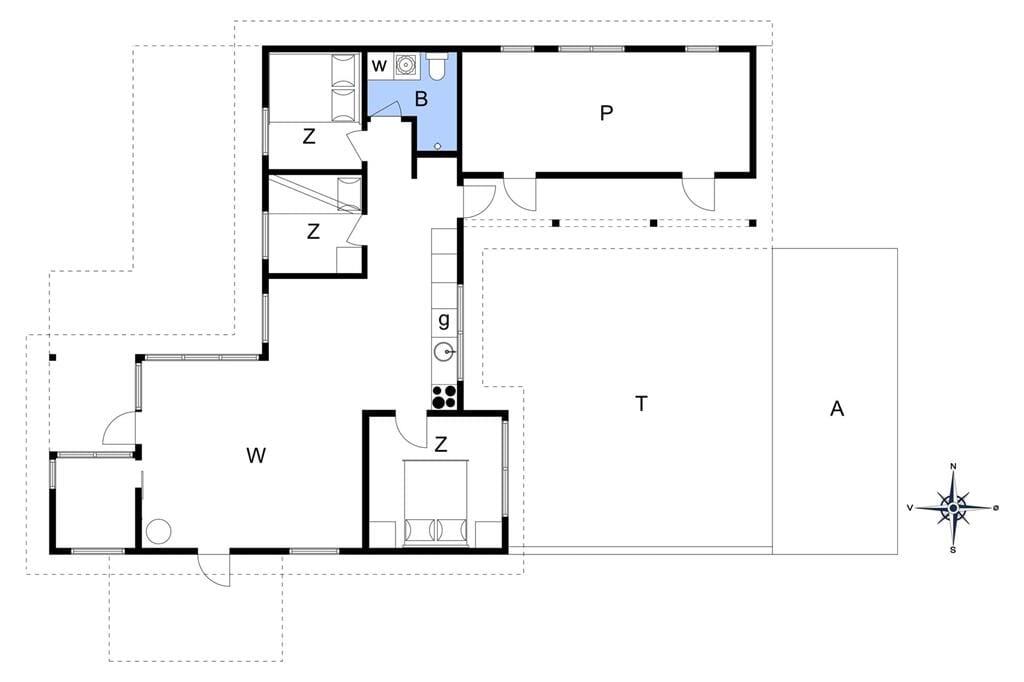 Indretning 1-14 Sommerhus 1755, Karen Mariesvej 57, DK - 9493 Saltum