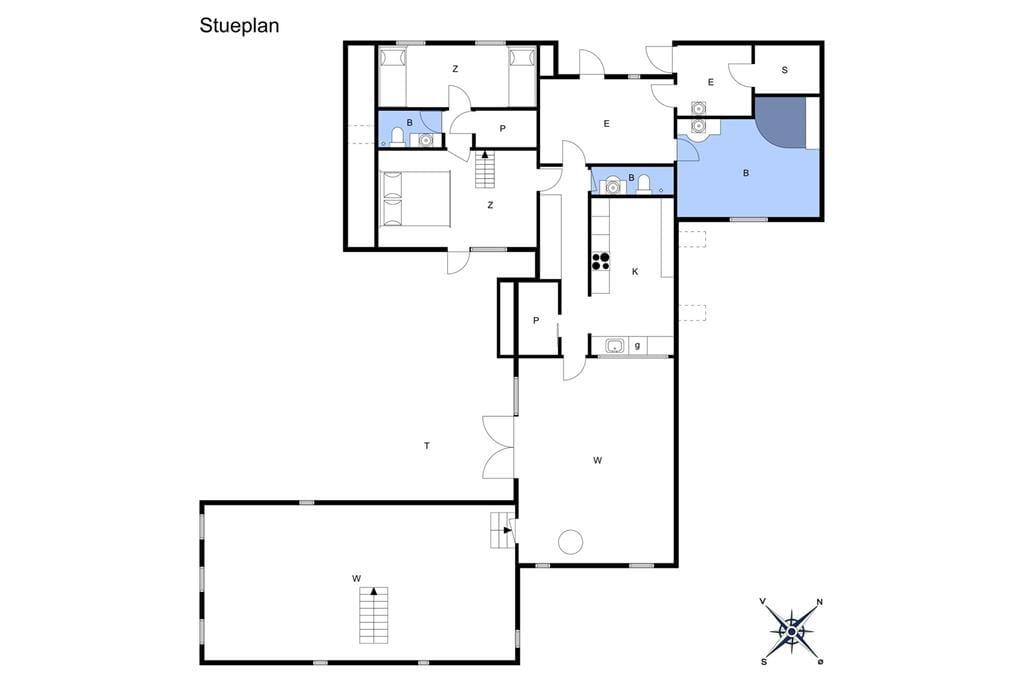 Indretning 1-174 Sommerhus M16019, Rørgræsvej 17, DK - 4873 Væggerløse