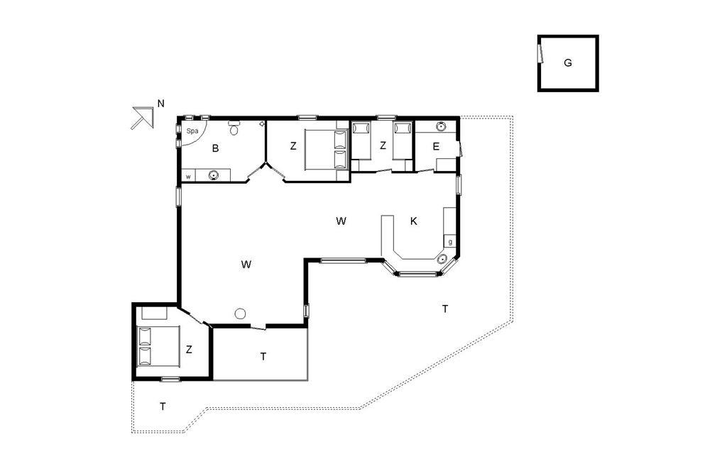Interieur 1-14 Vakantiehuis 701, Jærens Rev Sydvest 3, DK - 9493 Saltum