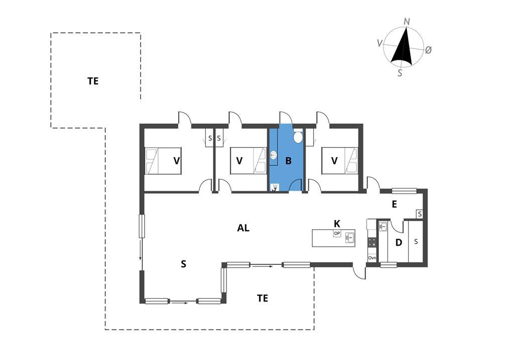 Indretning 1-19 Sommerhus 30070, Ahornvænget 3, DK - 8340 Malling