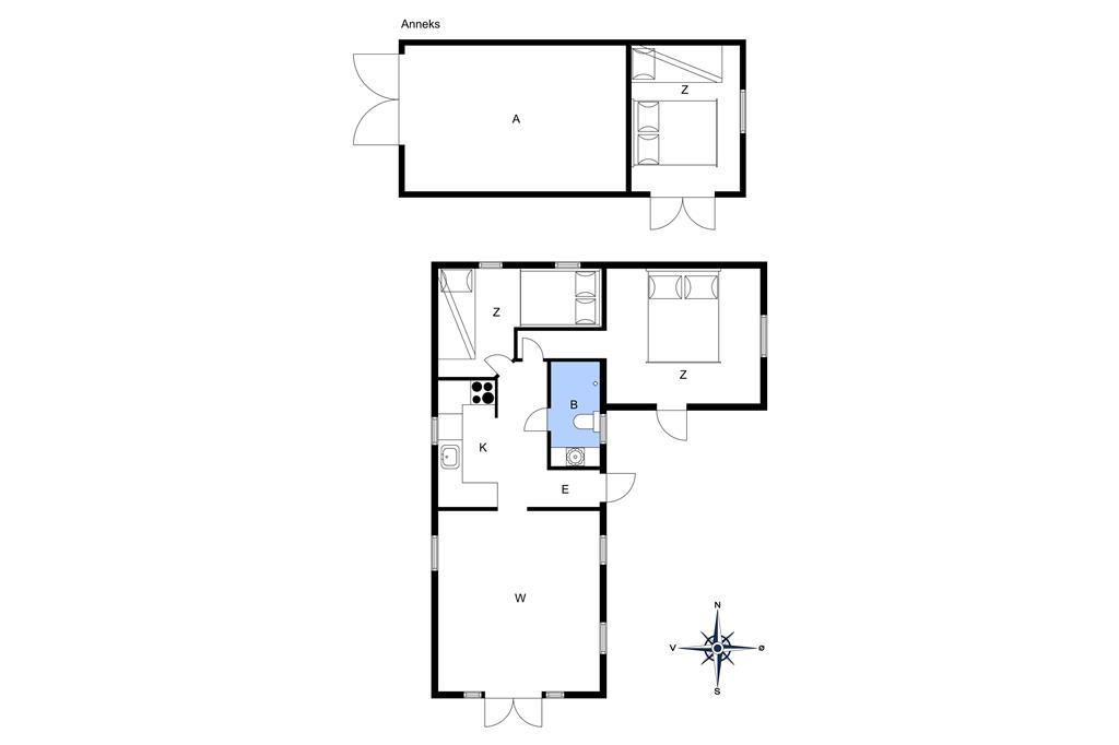 Innenausstattung 1-14 Ferienhaus 1269, Nattergalesvinget 4, DK - 9492 Blokhus