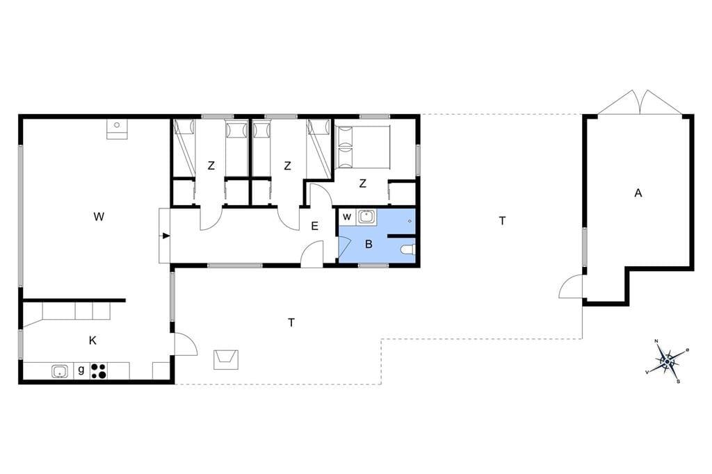 Indretning 1-3 Sommerhus L11536, Skovvej 13, DK - 7600 Struer