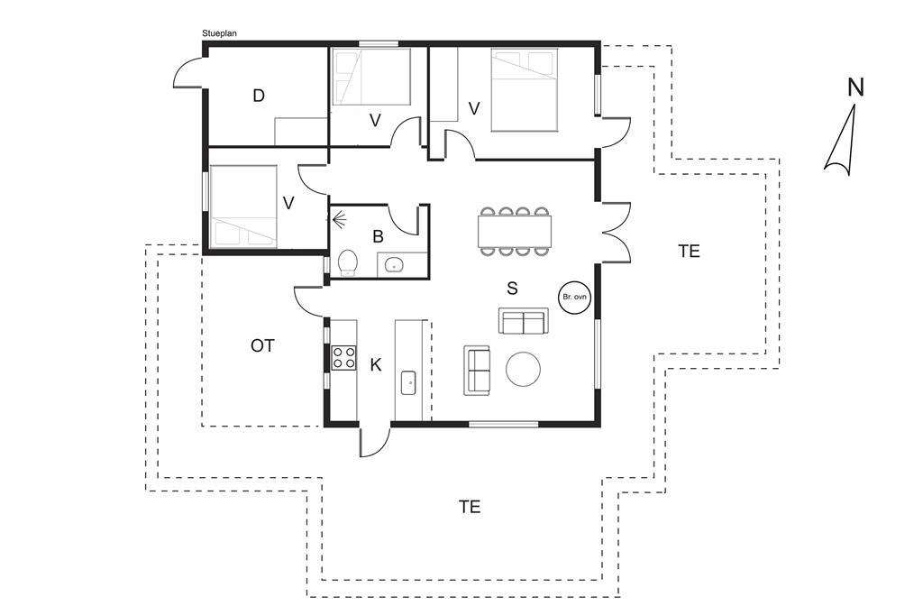 Indretning 1-19 Sommerhus 40313, As Strandby 15, DK - 7130 Juelsminde