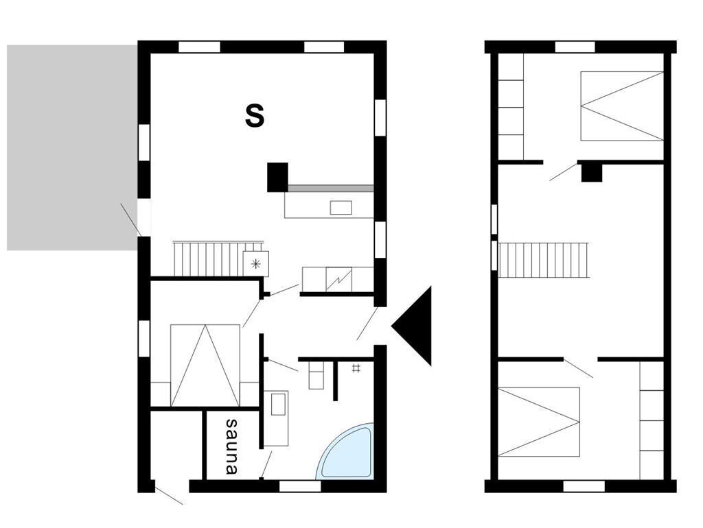 Indretning 1-175 Sommerhus 10718, Bækbyvej 117, DK - 6990 Ulfborg