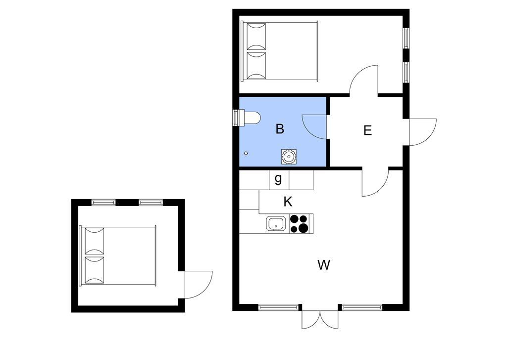 Indretning 1-3 Sommerhus M66364, Sølyst Strand 8, DK - 5800 Nyborg
