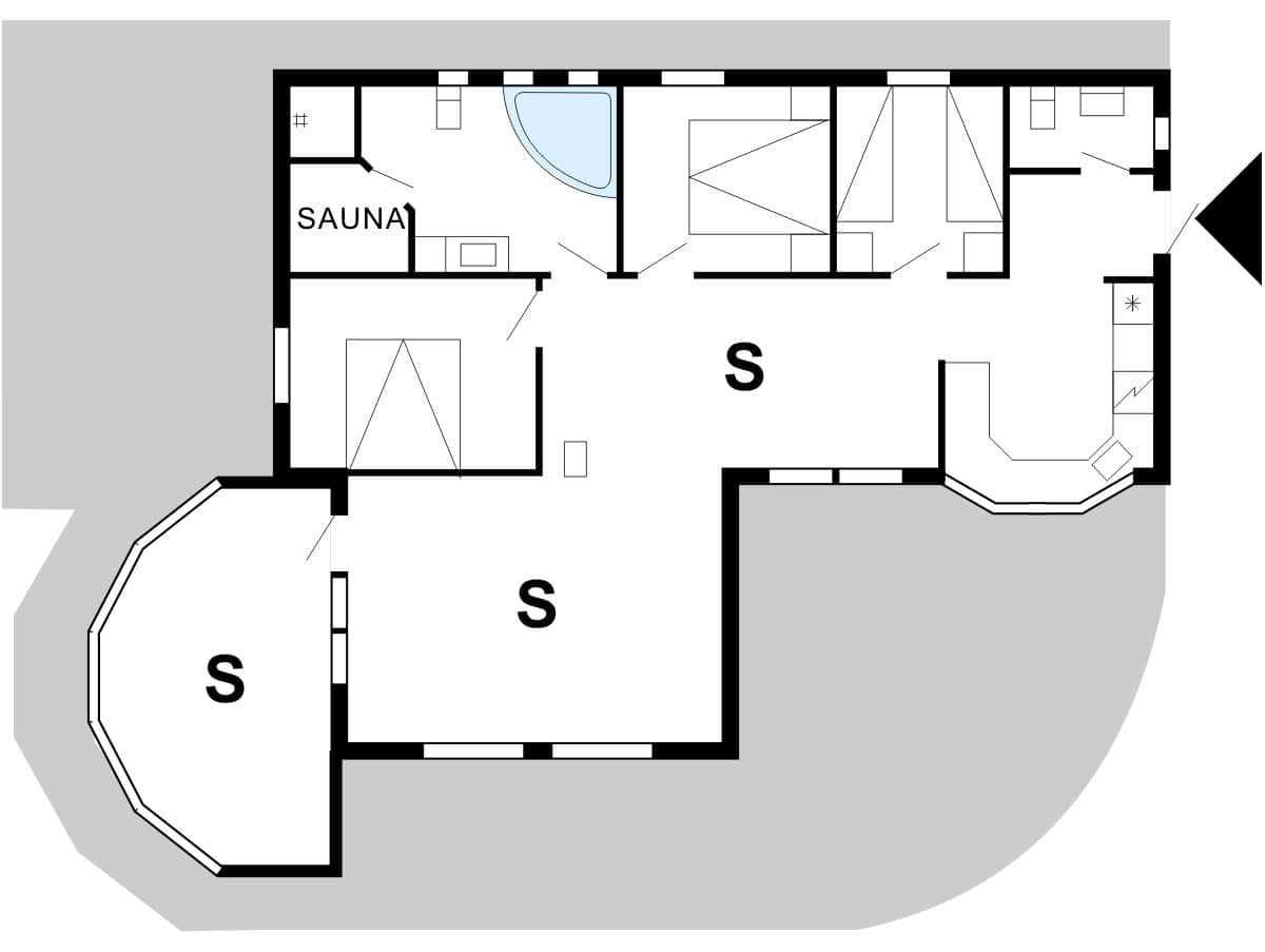 spahaus ferienhaus 30816 n rhede st vest veders klit. Black Bedroom Furniture Sets. Home Design Ideas