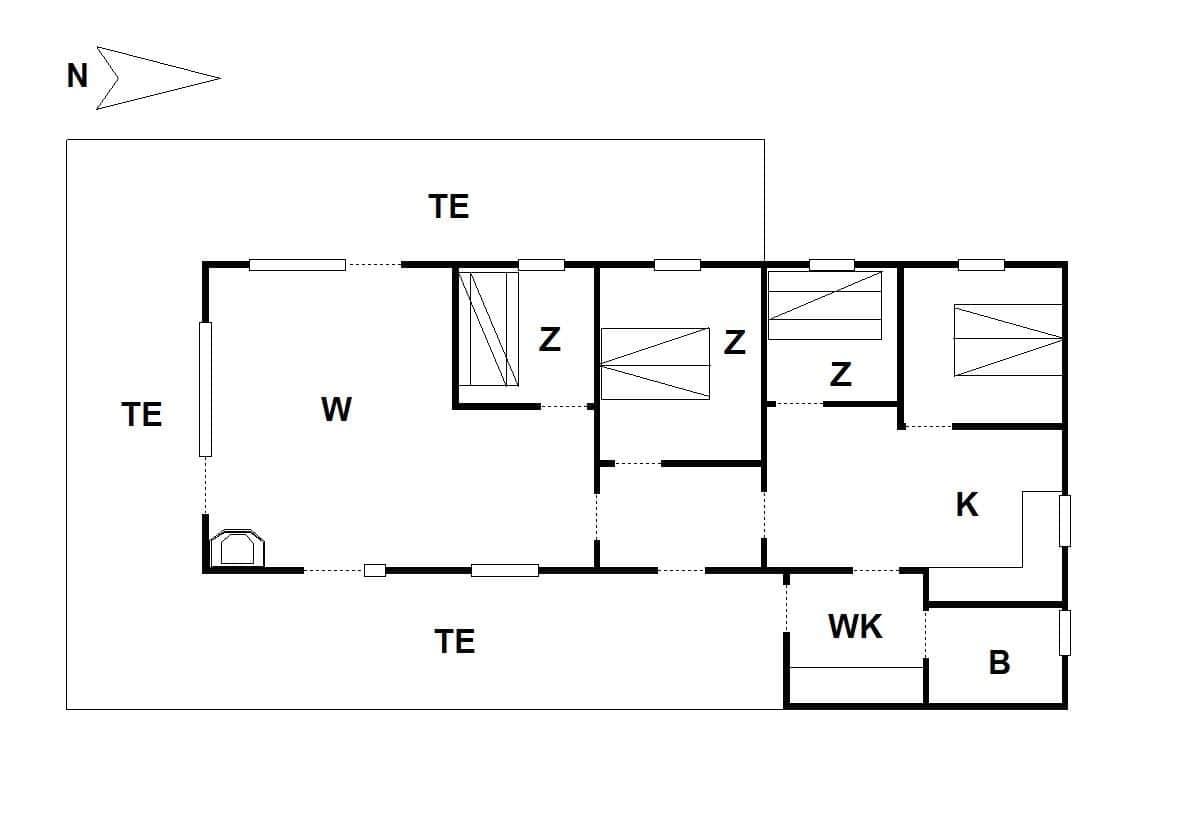 strandhaus ferienhaus 51404 fjand bjerghuse veders klit. Black Bedroom Furniture Sets. Home Design Ideas