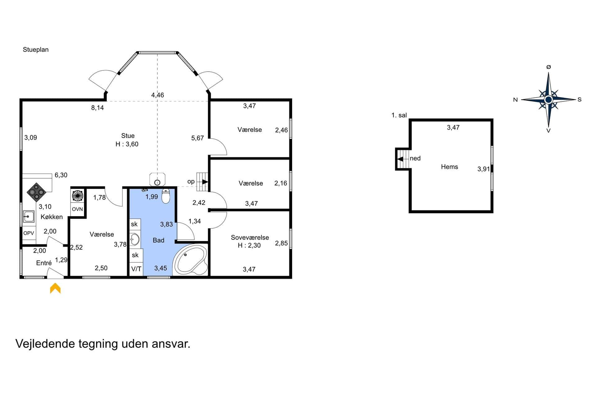 spahaus ferienhaus oh286 ster hurup kattegat. Black Bedroom Furniture Sets. Home Design Ideas