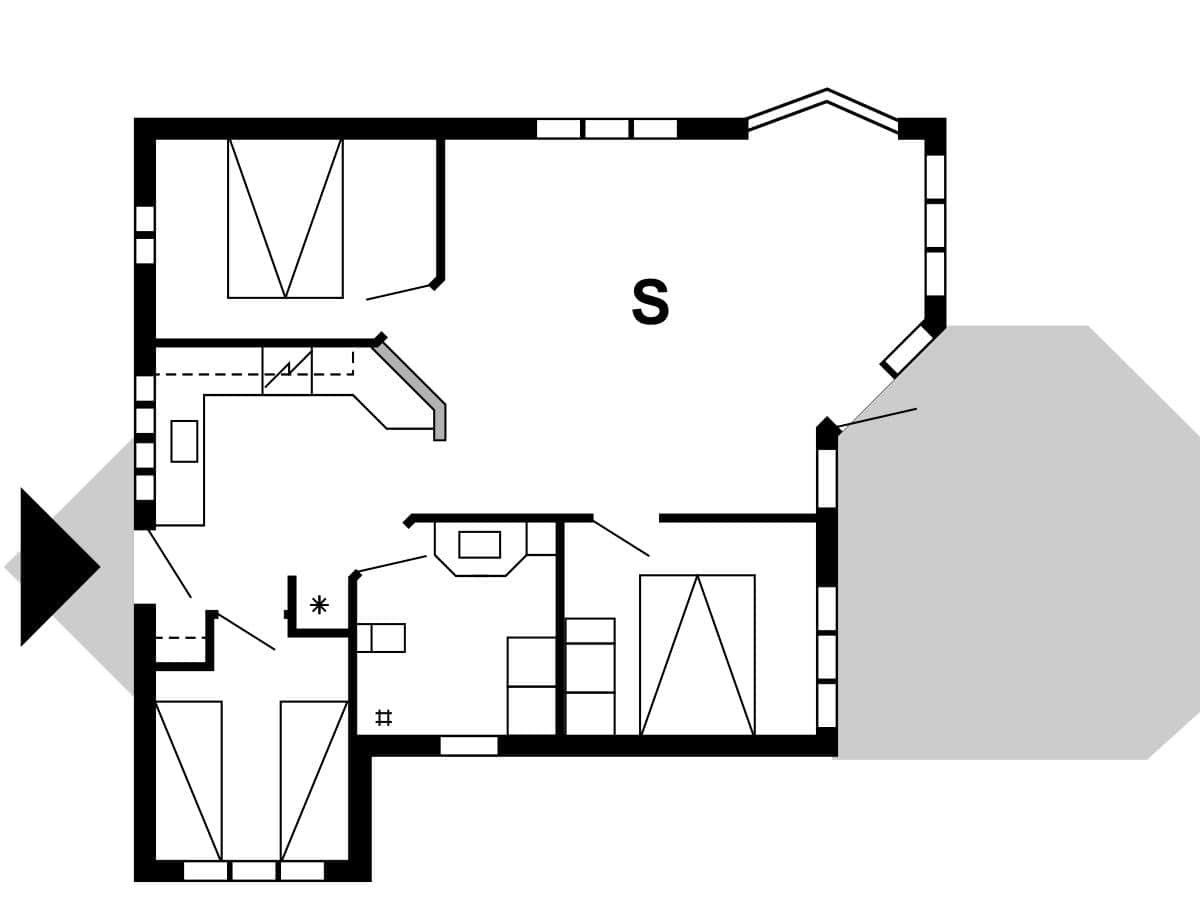 ferienhaus 30036 n rhede st vest veders klit. Black Bedroom Furniture Sets. Home Design Ideas