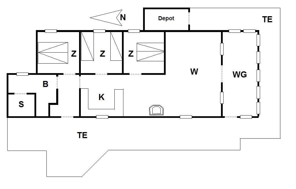 ferienhaus mit internet 31101 n rhede st vest veders klit. Black Bedroom Furniture Sets. Home Design Ideas