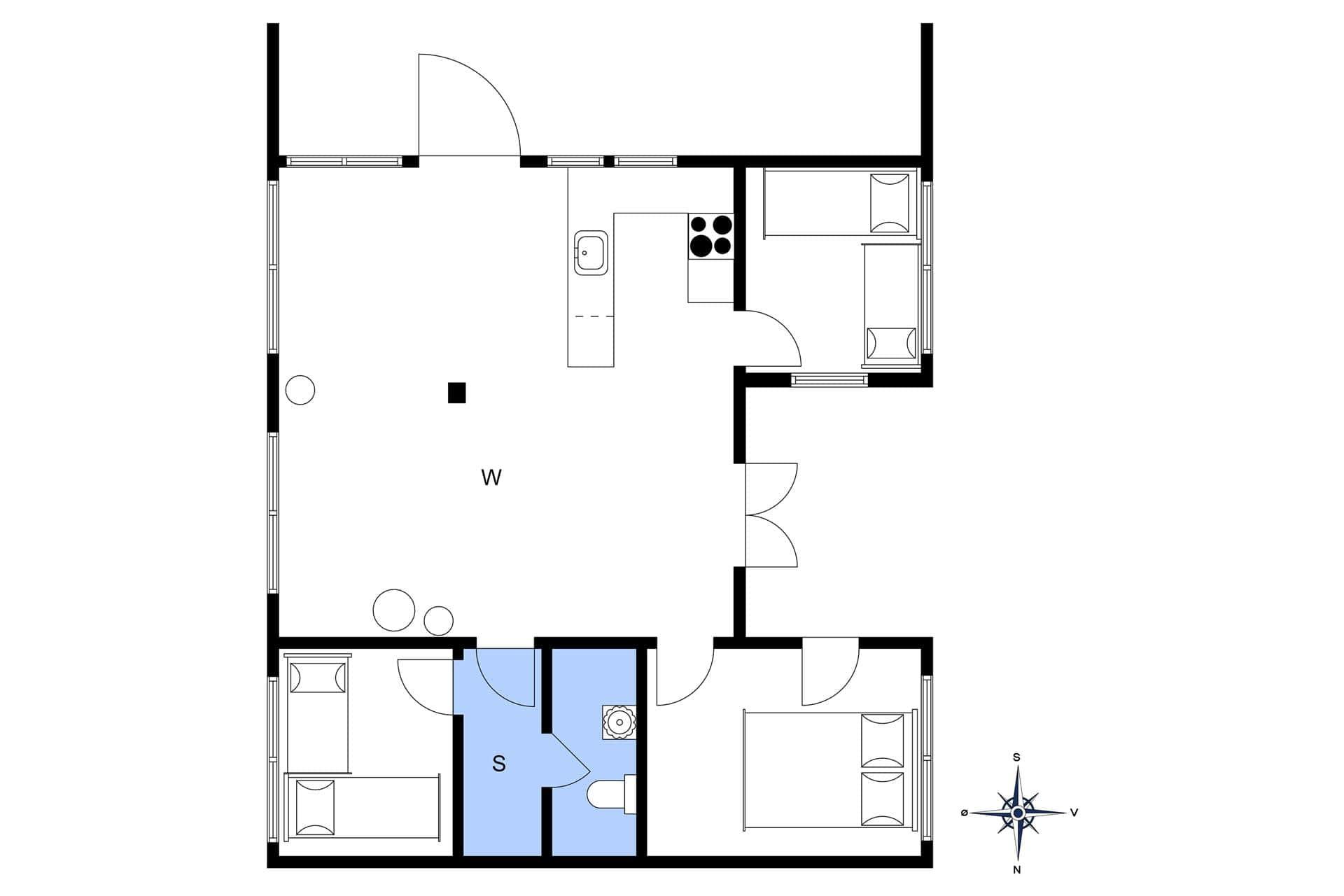 strandhaus ferienhaus 136 vejlby klit vejlby klit. Black Bedroom Furniture Sets. Home Design Ideas