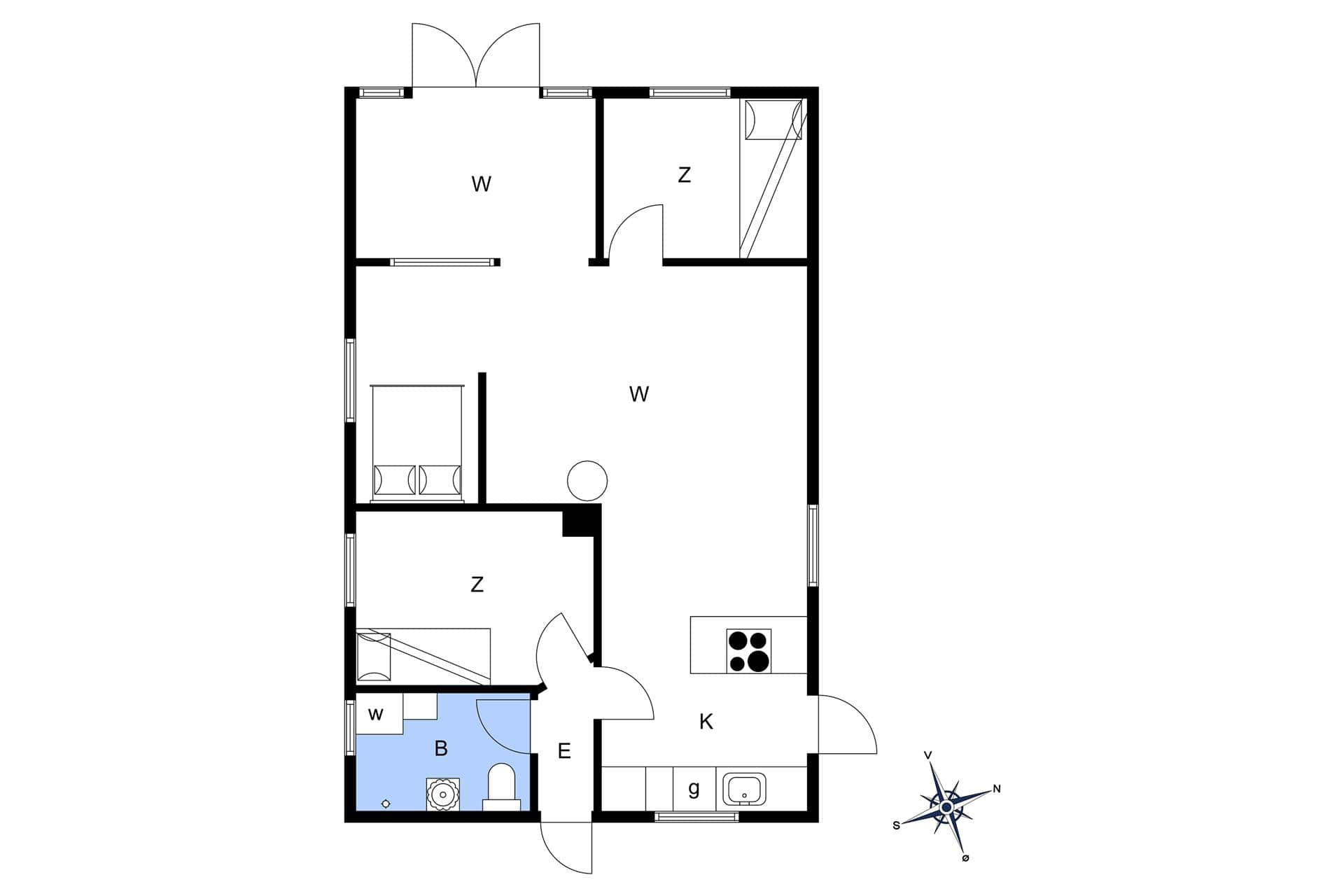strandhaus ferienhaus c11224 hemmet bork havn. Black Bedroom Furniture Sets. Home Design Ideas