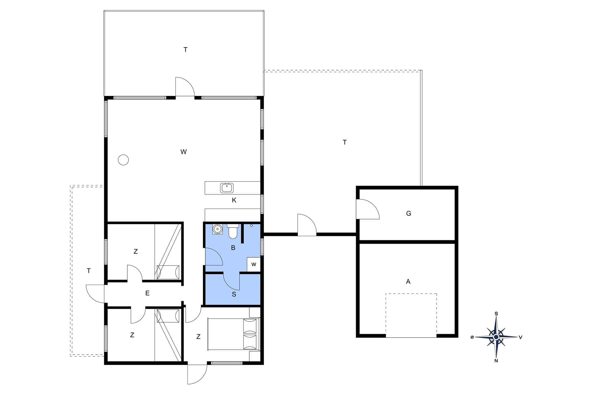 ferienhaus mit internet 176 saltum blokhus. Black Bedroom Furniture Sets. Home Design Ideas